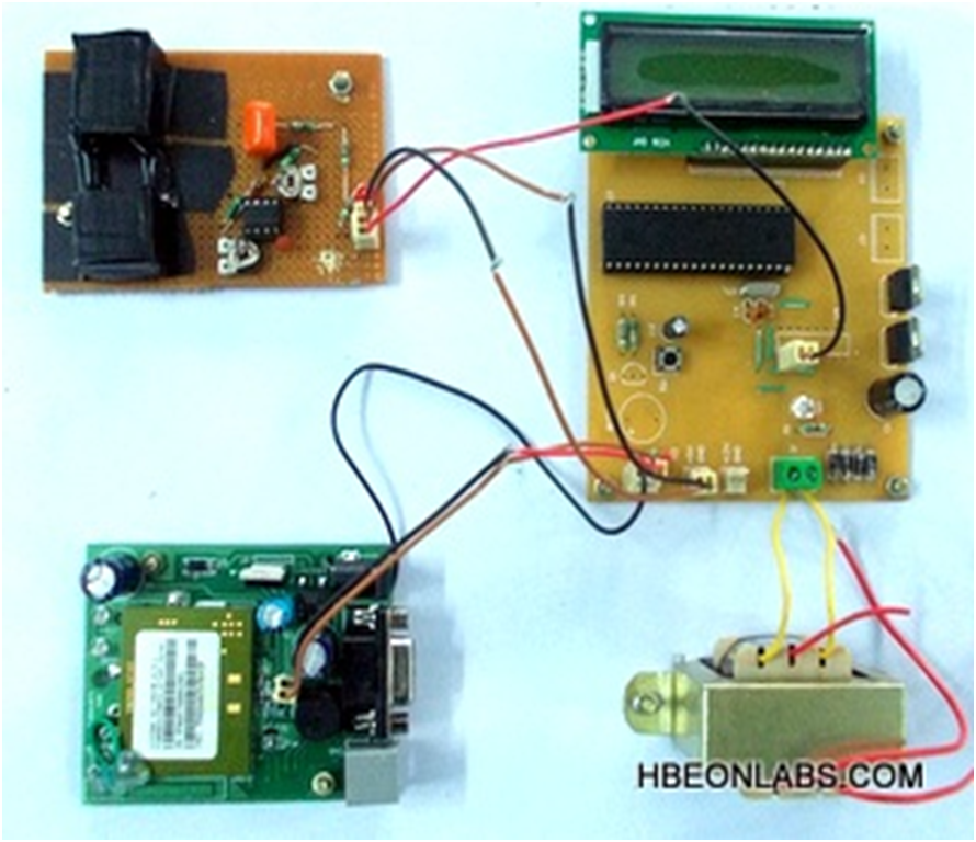 Biomedical Monitoring System : Biomedical monitoring system with gsm